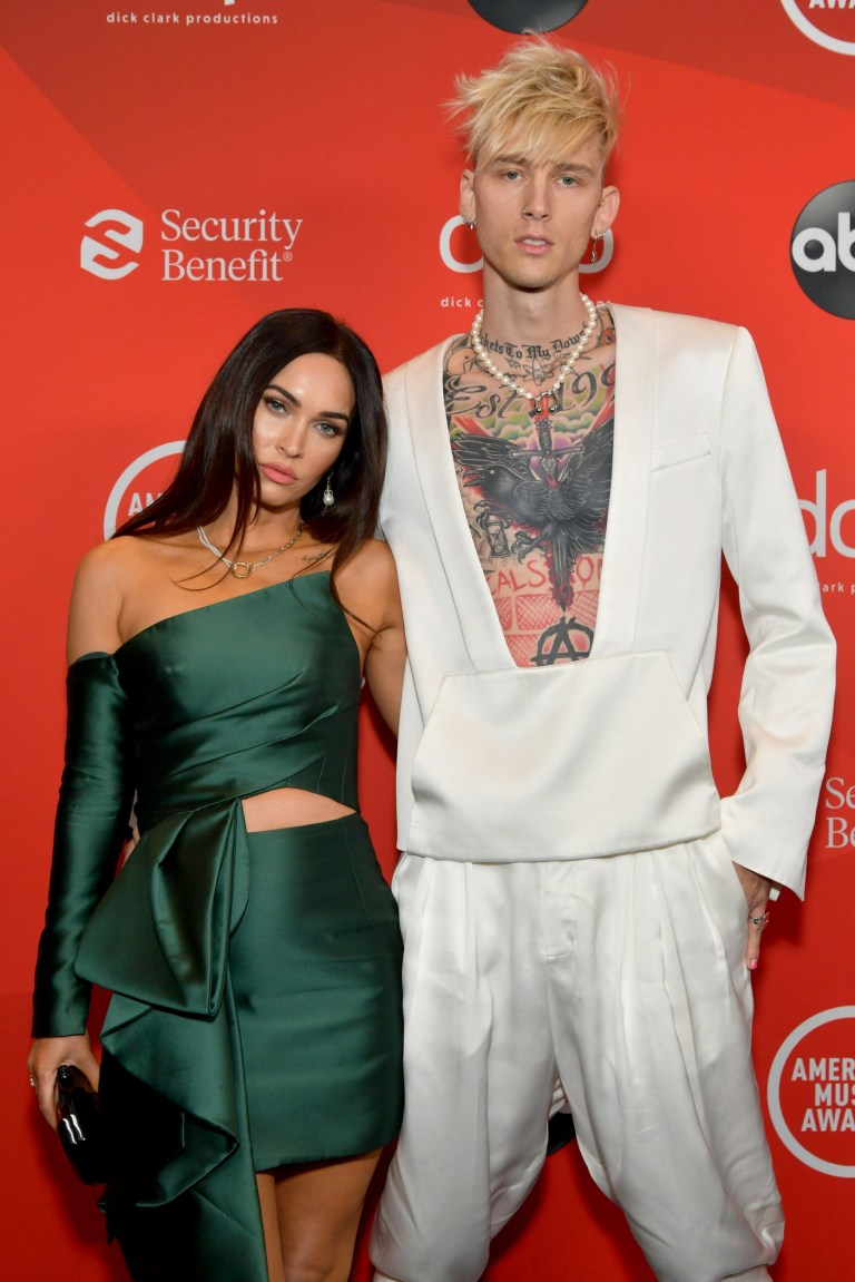 Megan Fox and Machine Gun Kelly at the American Music Awards 2020