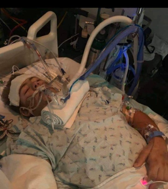 Loren Schauers, 19, was operating a forklift when he veered off a bridge and was crushed under it. He had to have the bottom half of his body amputated and has survived everything despite the horrific accident.