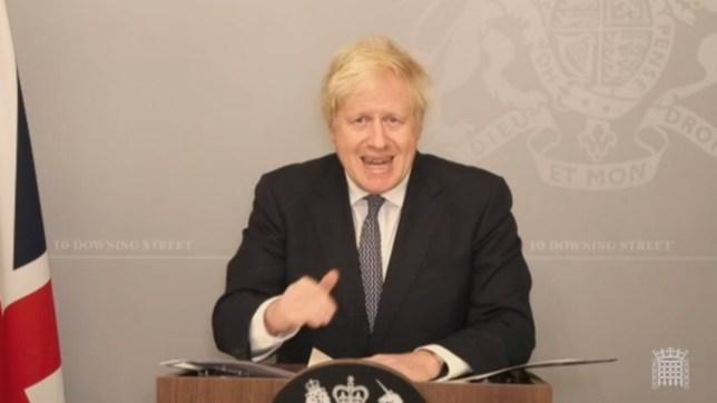 Boris Johnson Commons statement