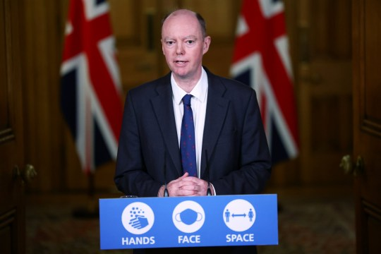 Chief Medical Officer for England Chris Whitty attends a virtual news conference on the ongoing situation with the coronavirus disease (COVID-19), at Downing Street, London, Britain November 23, 2020. REUTERS/Henry Nicholls/Pool