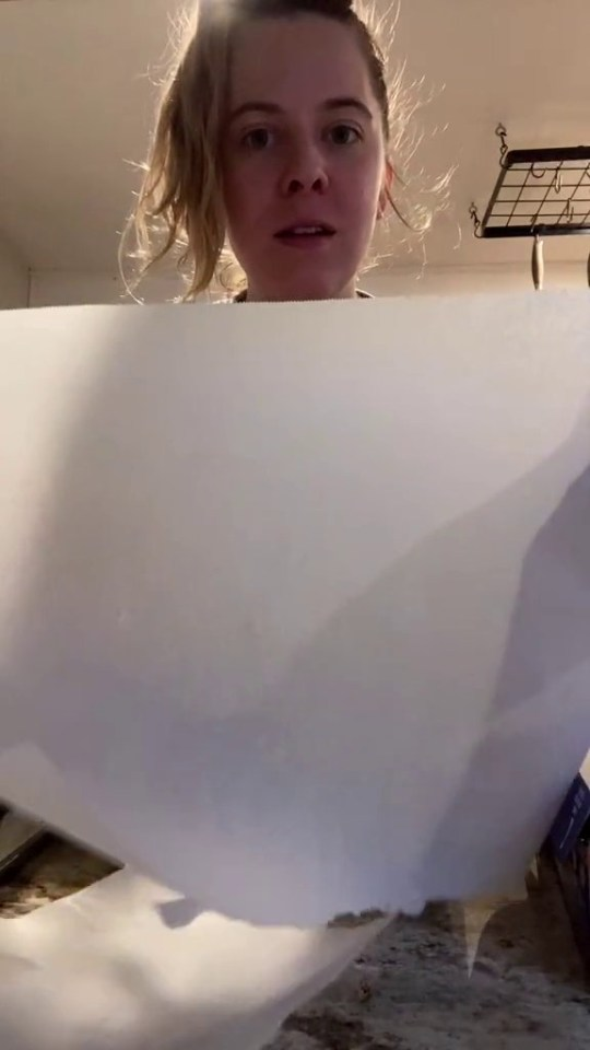 Woman says you're using your baking paper box wrong