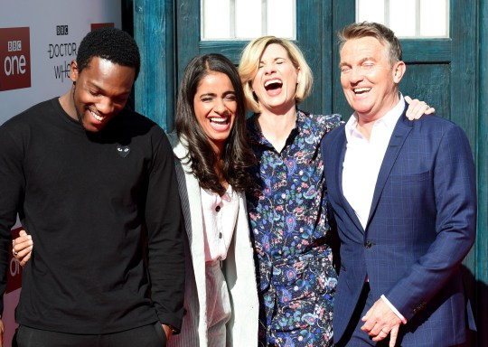 Tosin Cole, Mandip Gill, Jodie Whittaker and Bradley Walsh 'Doctor Who'