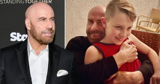 John Travolta shares rare photo with son Ben