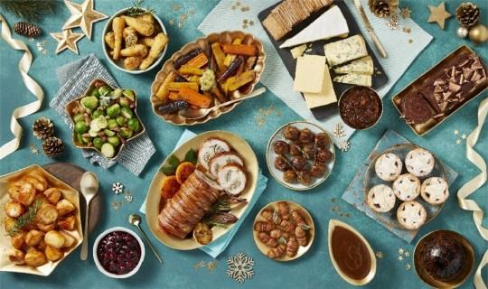 The Morrisons Christmas dinner food box