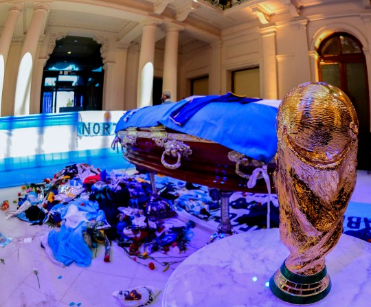 Diego Maradona's coffin was taken to the Casa Rosada presidential palace in Buenos Aires