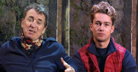 I'm A Celebrity's AJ Pritchard and Shane Richie.