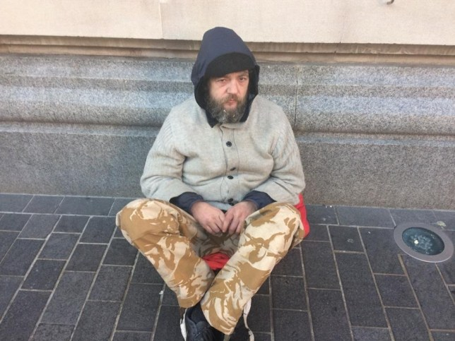 Richard Parker, 48, who was tried at Grimsby Crown Court for spitting at people, exposing himself and then 'trying to have sex' with a bollard outside a Marks & Spencer