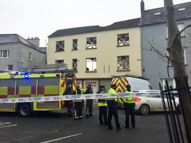 Handout photo issued by Radio Kerry of emergency services at the scene where a building has partially collapsed, killing a man in his 60s and injuring five others, on Ashe Street, Tralee in Co Kerry. PA Photo. Picture date: Saturday November 28, 2020. See PA story IRISH Building. Photo credit should read: Radio Kerry/PA Wire NOTE TO EDITORS: This handout photo may only be used in for editorial reporting purposes for the contemporaneous illustration of events, things or the people in the image or facts mentioned in the caption. Reuse of the picture may require further permission from the copyright holder.