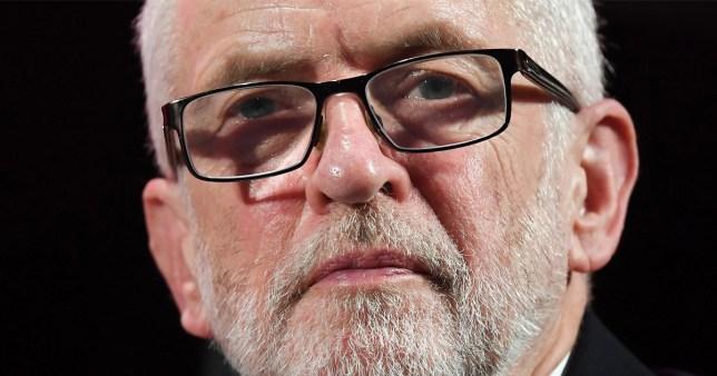 Jeremy Corbyn wearing glasses