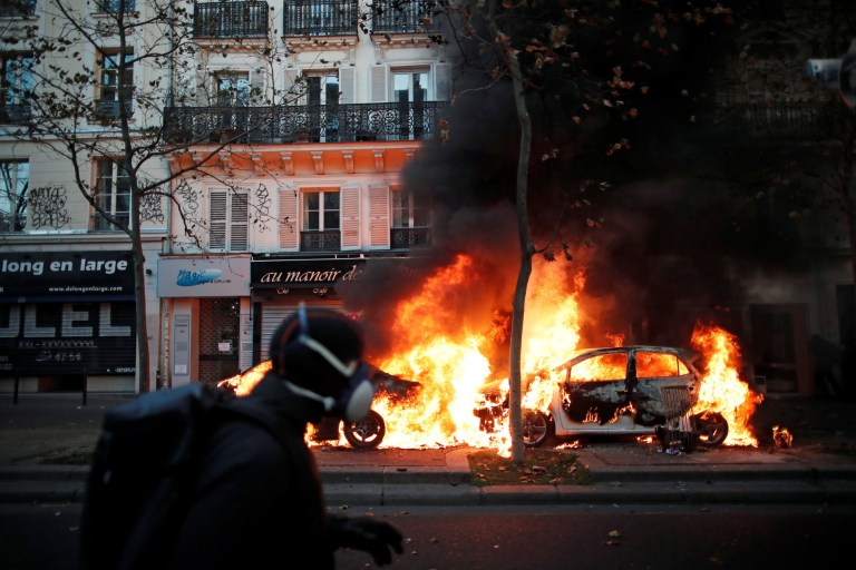 Paris protests towards police brutality flip violent