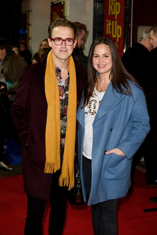 Mandatory Credit: Photo by Jonathan Hordle/REX (10103251o) Tom Fletcher and Giovanna Fletcher 'Rip It Up' musical press night, London, UK - 12 Feb 2019