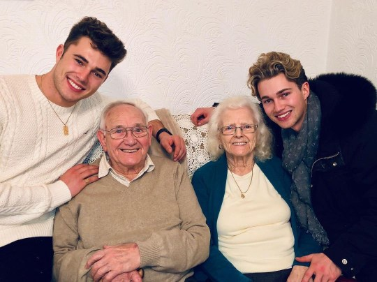 AJ and Curtis Pritchard with their nan and grandad