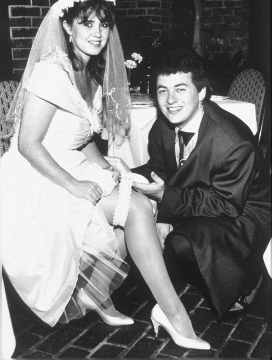 Mandatory Credit: Photo by REX (256726b) SHANE RICHIE AND COLEEN NOLAN WEDDING OF SHANE RICHIE AND COLEEN NOLAN, LEU GARDENS, ORLANDO, FLORIDA - MAR 1990