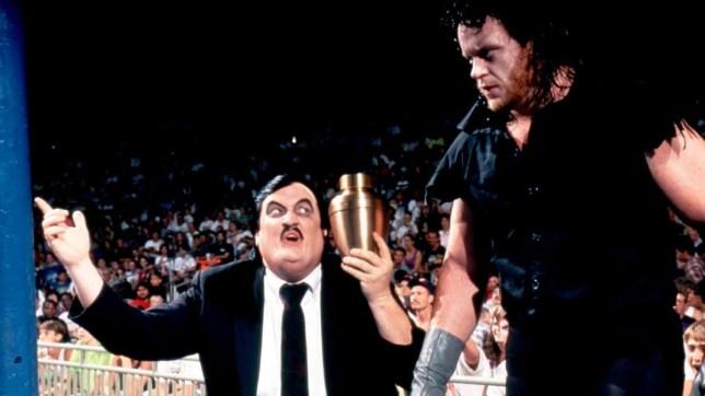 WWE manager Paul Heyman and legendary superstar The Undertaker