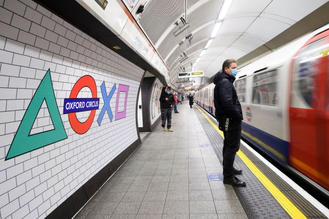 London Tube PS5 signs