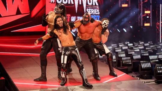 WWE superstars RETRIBUTION on Raw