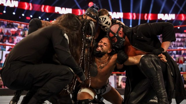 WWE faction RETRIBUTION take out superstar Ricochet on Raw