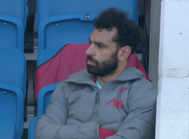 Mohamed Salah was substituted against Brighton in the 64th minute