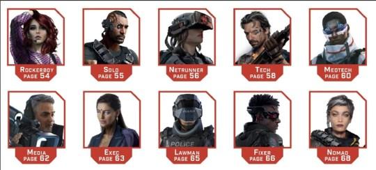 Cyberpunk Red roles