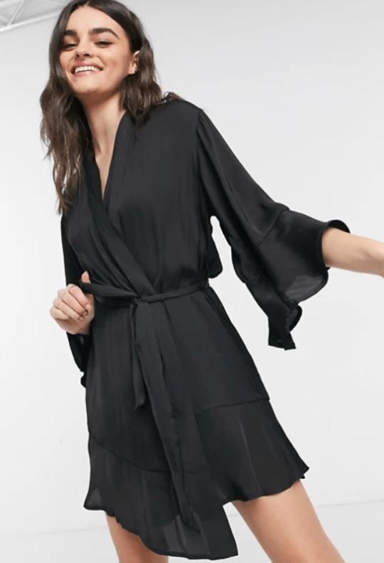 black dressy robe asos