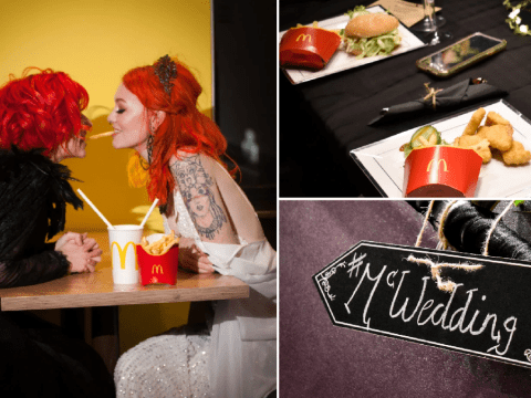 Couple have wedding reception in McDonald's after original plans scuppered by lockdown