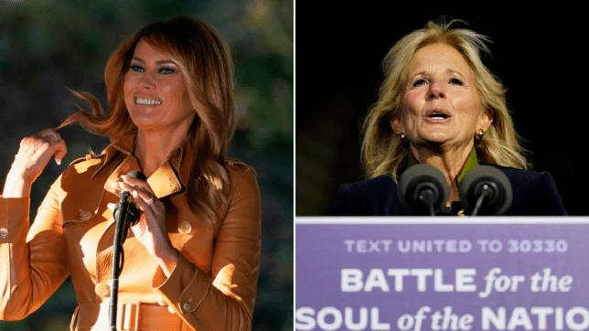 Melania Trump and Jill Biden