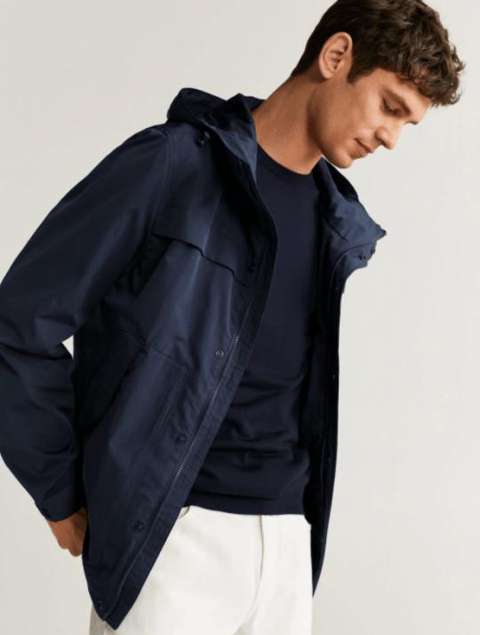 mango waterproof jacket