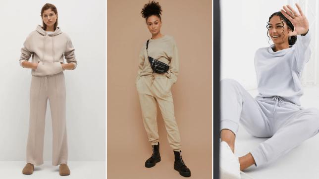 models wearing loungewear sets
