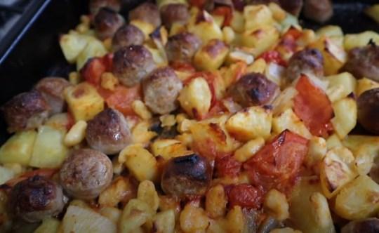 lara jarvis's easy autumnal sausage bake recipe