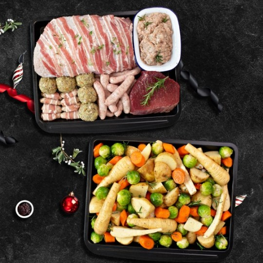 Muscle food two pan Christmas dinner