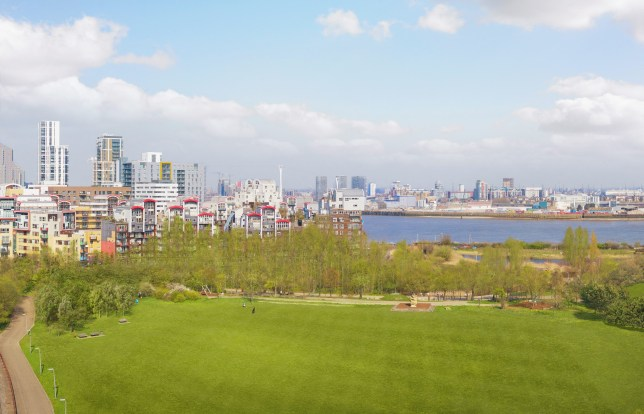 View from one of the beautiful new one-three bedroom flats in 67 Park Central, Greenwich Millennium Village