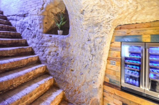 wine fridge in provate cave in french consulate apartment