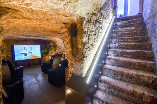 home cinema in private cave