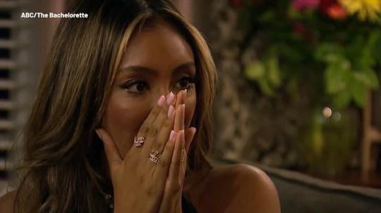 Tayshia Adams in The Bachelorette finale