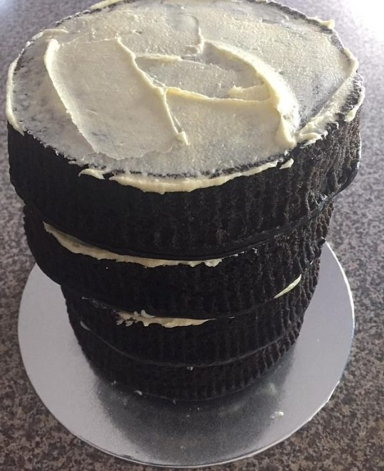 Mudcake with buttercream icing