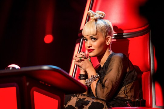Television Programme: The Voice with Rita Ora. Programme Name: The Voice - TX: 07/02/2015 - Episode: 5 (No. 5) - Picture Shows: Rita Ora - (C) WALL TO WALL - Photographer: GUY LEVY. WARNING: Embargoed for publication until 27/01/2015. ** IMAGE UNDER EMBARGO UNTIL: TUESDAY 27 JANUARY 2015 **