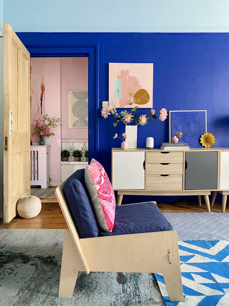 What I Rent: Anna, Crystal Palace - blue chair in living room