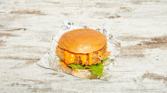 chick-a-boo chicken burger