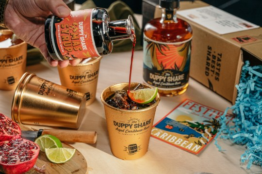 a duppy share rum cocktail