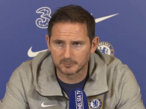 Frank Lampard reacts to Chelsea's Champions League draw vs Atletico Madrid