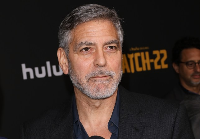 George Clooney a proud dad after teaching his twins to pretend to eat their own poo GettyImages-1147917020