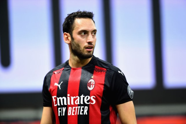 AC Milan's Hakan Calhanoglu has been linked with a move to Manchester United
