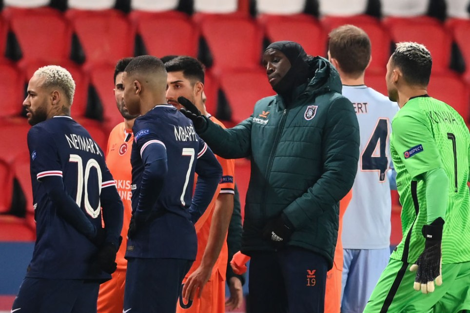 Demba Ba calls out 'racist' fourth official as Istanbul Basaksehir and PSG players walk off pitch