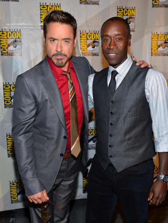 Robert Downey Jr and Don Cheadle at Comic-Con International 2012 - Marvel Studios Panels