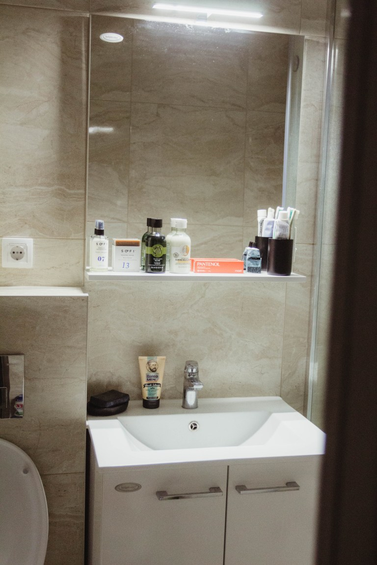 what i rent: Dario, Serbia: the bathroom