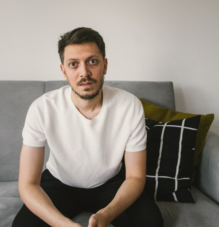 what I Rent: Dario, Belgrade, Serbia; dario sitting on the sofa