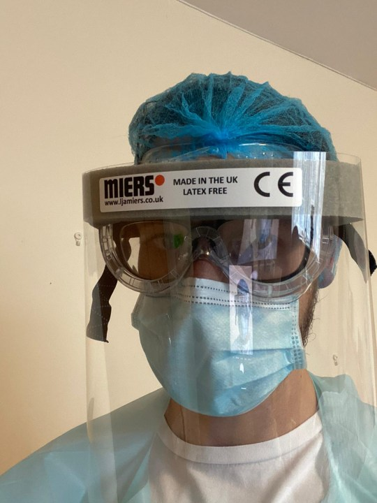 Mark Topps in full PPE