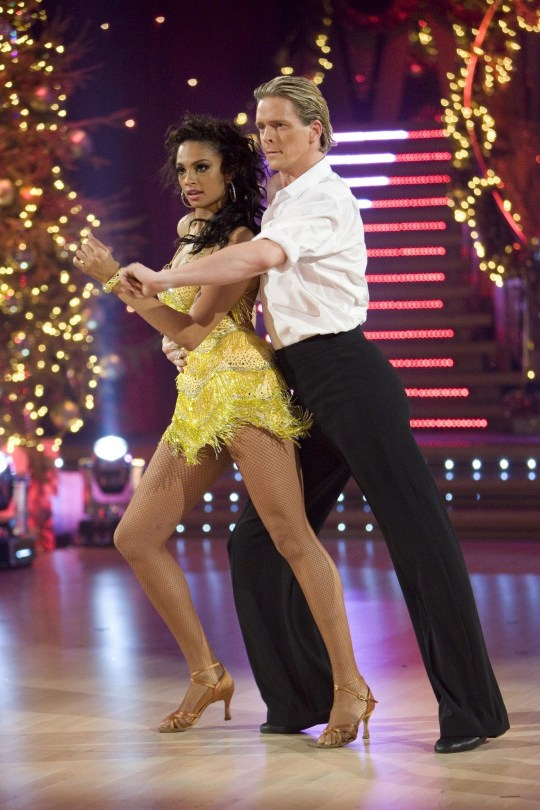 Alesha Dixon & Matt Cutler dancing the Cha Cha in tonight's final of Strictly Come Dancing. PRESS ASSOCIATION Photo. Issue date: Saturday December 22, 2007. Singer Alesha Dixon is the bookies' favourite to win Strictly Come Dancing tonight but rival Matt Di Angelo is hoping for an X Factor-style upset. The EastEnders actor is the underdog in the ballroom battle but insists he still has a chance of victory. See PA story SHOWBIZ Strictly. Photo credit should read: BBC/PA Wire. WARNING: Use of this copyrighted image is subject to Terms of Use of BBC Digital Picture Service. In particular, this image may only be used during the publicity period for the purpose of publicising 'Strictly Come Dancing' and provided the BBC is credited. Any use of this image on the internet or for any other purpose whatsoever, including advertising or other commercial uses, requires the prior written approval of the copyright holder.