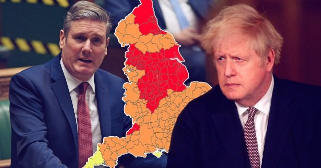 Composite image Boris Johnson and Keir Starmer