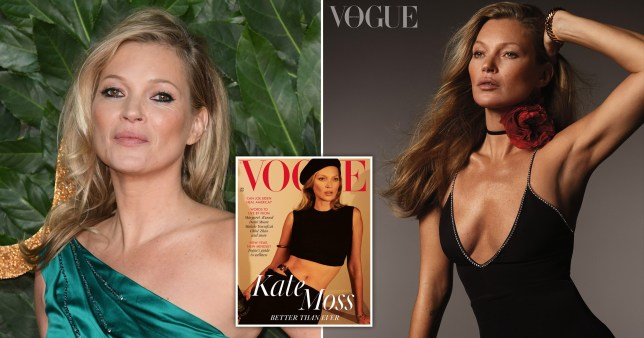 Kate Moss British Vogue cover